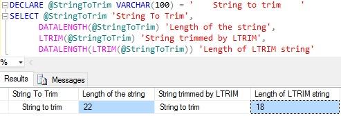 Postgresql ltrim() function w3resource.