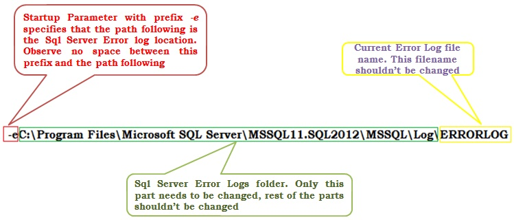 Error Log: How To Change Sql Server ErrorLog Files Location