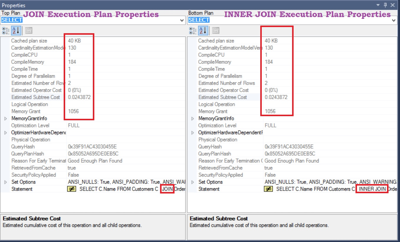 execution-plan-properties-comparision