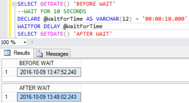 passing-local-variable-as-a-parameter-for-the-waitfor-delay-statement