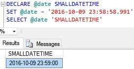 SmallDateTime Example