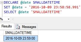 SmallDateTime Example