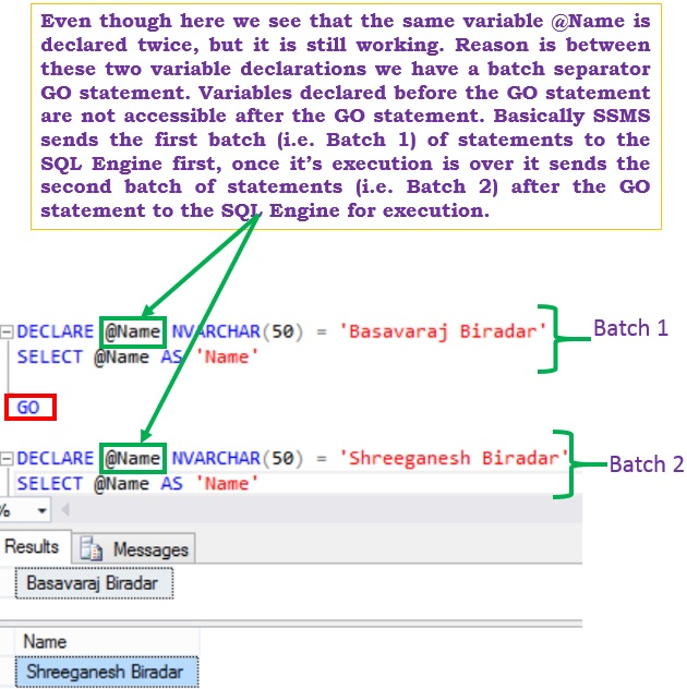 sql-go-statement-batch-separator