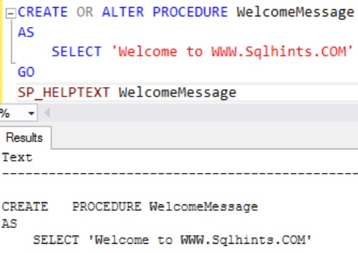 Sql Server 2016 SP 1CREATE OR ALTER Statement Example 2