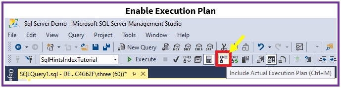 Enable Actual Execution Plan